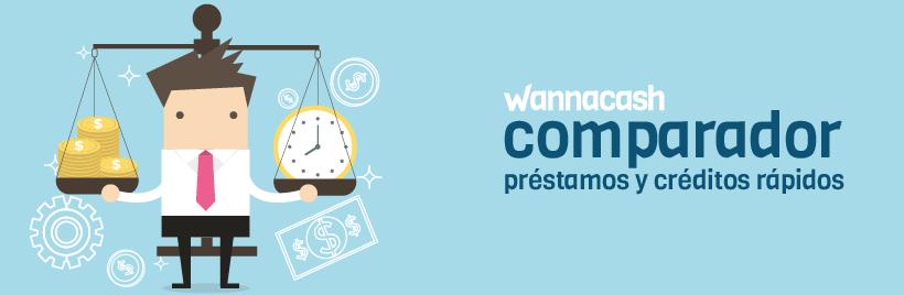 Comparador de prestamos y creditos rapidos con Wannacash